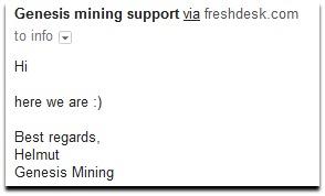 genesis mining support